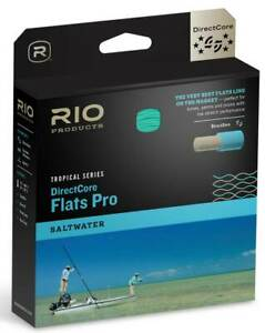 Rio DirectCore Flats Pro WF Floating Fly Line - Aqua/Orange/Sand - Closeout Sale