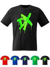 DX T Shirt Wrestling D Generation X  MENS KIDS 17 SIZES Fluorescent  Print