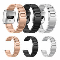 Premium Stainless Steel Metal Bracelet Watch Band Strap for Fitbit Versa New