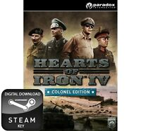 HEARTS OF IRON IV 4 COLONEL EDITION PC, MAC AND LINUX STEAM KEY