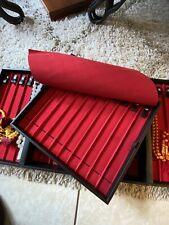 Collection Jewelry Box 31 Organizer Storage Black Leather Case شنطة للمسابح