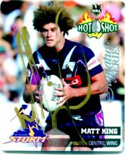 2006 NRL SIGNATURE SERIES TAZO MATT KING MELBOURNE STORM 1/20 ONLY