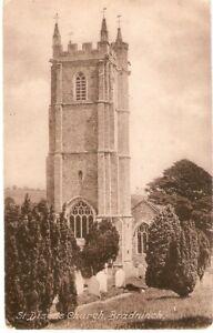 St Disens Church Brandninch Devon Old Vintage Postcard.