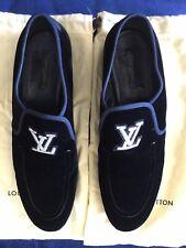 Louis Vuitton Men's Black Velvet Prom Loafers Size 11