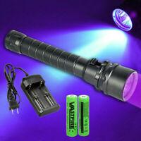 Underwater 100M 3x XPE 365nm-395nm UV Light LED Scuba Diving Flashlight Torch