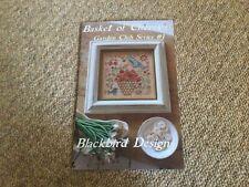 Basket Of Cherries Cross Stitch Pattern By Blackbird Designs