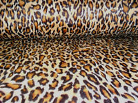 60 Inch Width Leopard Print Polar Fleece, Material,Fabric,Soft And Washable