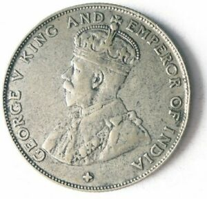 1920 STRAITS SETTLEMENTS 50 CENTS - AU Very Rare High Value Silver Coin- Lot O13