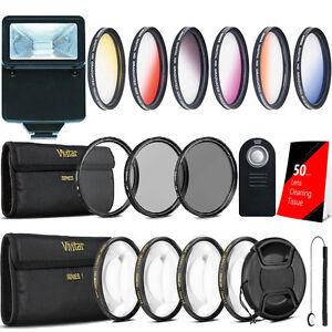 58mm Color Filter Kit + Macro Kit + UV CPL ND Kit + Accessory Kit for Canon