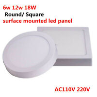 6w 12w 18W 24W Round/ Square Led Panel Light Surface Mounted Ceiling Downlight