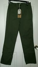 $48 Boys Army Green Woolrich Twill slacks, pants, size 18, NWT, NICE, SAVE $$$