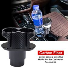 Center Console Drink Cup Holder Box Carbon Fiber For Car Interior Accessories