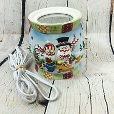 Yankee Candle Quilted Snowman Room Fragrancer Warmer 19-00040 Ceramic Winter