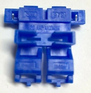 15PACK 3M 972 Scotchlok Self-Stripping In-Line Blade ATC Fuse Holders 18-14 Blue
