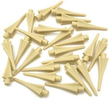 Lego 25 New Tan Minifigure Weapons Spear Tip with Fins Pieces