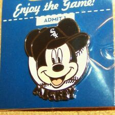 Chicago White Sox Mickey Mouse portrait on baseball Disney lapel pin MLB