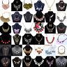 Fashion Womens Crystal Rhinestone Bib Choker Pendant Statement Chunky Necklace