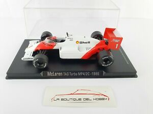 MCLAREN TAG TURBO MP4/2C 1986 RBA ESCALA 1:43
