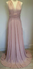 Multiway Dress Bridesmaid Prom Evening Convertible Infinity Maxi Soft Pink