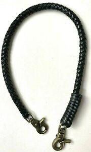 Biker chain braided black leather Heavy Duty Trucker Chain wallets USA made