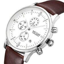 Montre Luxe Classique Top Qualité Homme Mégir Cuir Date Chronograph Men Watch