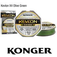 150m KONGER KEVLON X4 OLIVE GREEN GEFLOCHTENE SCHNUR ANGELSCHNUR 0,06-0,25mm