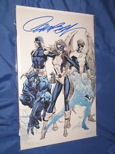 X-MEN BLUE #1 Signed J SCOTT CAMPBELL Exclusive Blue Virgin Cover Comic VARIANT