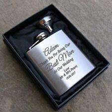 Engraved 6oz WEDDING Hip Flask Gift Box For Best Man/Usher/Dad/Groomsman/Groom