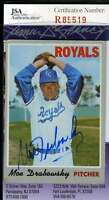 Moe Drabowsky 1970 Topps Jsa Coa Hand Signed Authentic Autographed