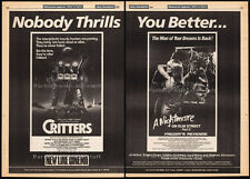 CRITTERS_/_A NIGHTMARE ON ELM STREET 2__Original 1985 Trade AD promo / poster