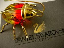 DANIEL SWAROVSKI CRYSTAL BEETLE ~BUG OBJECT PIECE RETIRED NEW IN BOX!!
