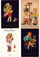 CHILDREN FANTASY Mostly ARTIST SIGNED 100 Vintage Postcards (PART 13.)