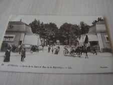 carte postale  vers 1900    provence avignon sortie gare     serie 22