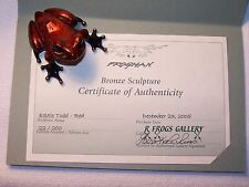 """Todd - ES, Red"" by Frogman Tim Cotterill Limited Edition 22/200 Bronze Frog"