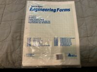 NEW VINTAGE NATIONAL BRAND ENGINEERING FORMS 20 SHEETS 12-189 5 SQUARES TO CENT.