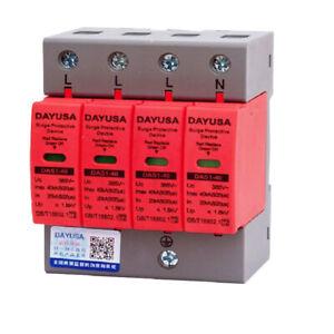 Überspannungsschutz Blitzschutz 40kA 4-Polig Kombiableiter AC 420V Ableiter NEU