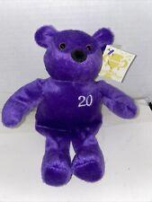 Nutrisystem Plush Beanie Bear - Purple 20 lbs Weight Loss NutriBear