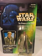 MOC Han Solo Endor Star Wars POTF2 Power Of Force 1997 No Holo .00 Brown Pants