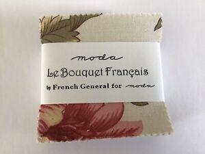 Le Bouquet Francais Moda Mini Charm Pack 42 100% Cotton Precut Fabric Squares