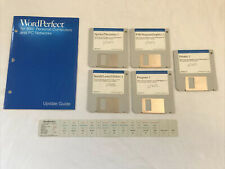 Vintage WORDPERFECT for IBM Personal Computer Key Keyboard Overlay Template 1989