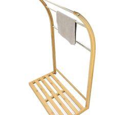 Bathroom Towel Stand Rack Holder Made of Waterproof Bamboo