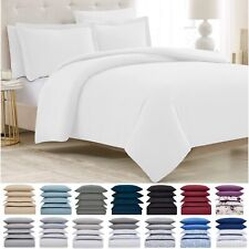 Mellanni Duvet Cover Set 5-Piece 1800 Hotel Collection w/ Button Closure & Ties