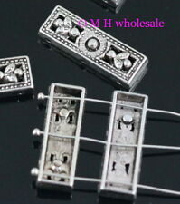 Free ship tibetan silver 3-3hole spacer beads Jewelry metal beads 26x8.5x5mm
