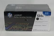 NEW Sealed Genuine HP LaserJet Q6000A 124A Dual Pack Black Toner for 1600 2600