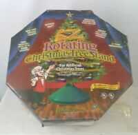 E. Z. Rotating Christmas Tree Stand NOB Complete Unit Vintage 1996 2 Outlets