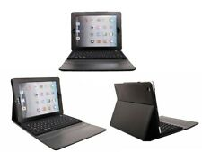 PU Leather Case Cover with Bluetooth Wireless Keyboard Built in iPad Air BLACK