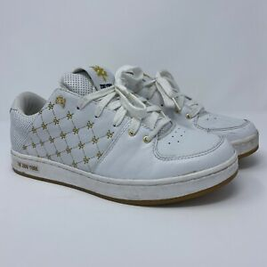 Zoo York Mens Sneakers 42045 White Gold Skate Shoes 11.5