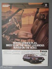 R&L Ex-Mag Advert: Austin Rover SD1 V8 Vanden Plas Car