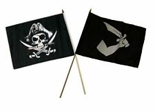 "12x18 12""x18"" Wholesale Combo Pirate Deadman's & Thomas Tew Stick Flag"