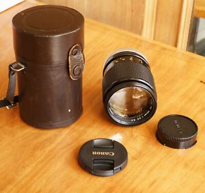 Canon FD 135mm f2.5 Manual Focus Prime Lens w/ Integrated Hood Excellent Con.
